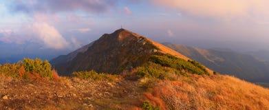Панорама горы в осени Стоковое фото RF