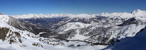 панорама горы Италии участка земли alps Стоковое Изображение RF