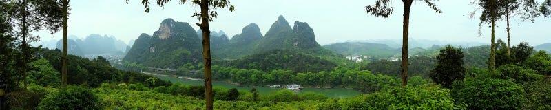 Панорама горы Китая Стоковое Изображение RF