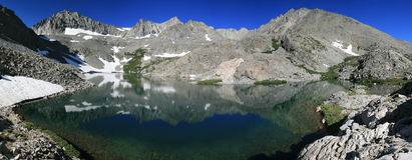 панорама горы озера Стоковое Изображение