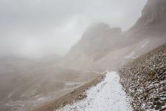 Панорама горы доломитов, Tre Cime Di Lavaredo стоковая фотография