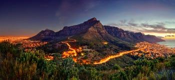 Панорама горы таблицы стоковая фотография