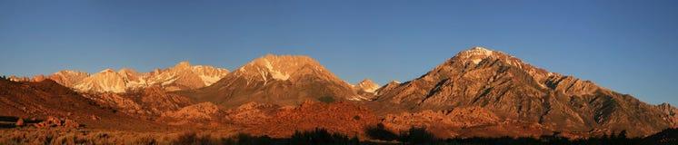 панорама горы утра Стоковые Изображения RF