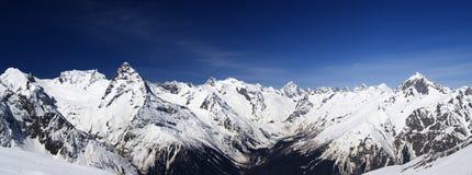панорама горы caucasus Стоковые Фото