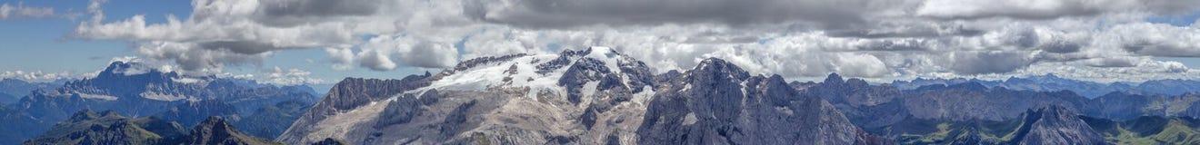 Панорама горы Marmolata Стоковые Изображения RF
