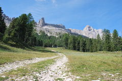 панорама гор Италии dolomiti Стоковое Фото