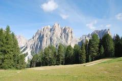 панорама гор Италии dolomiti Стоковые Изображения RF
