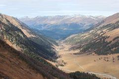 Панорама гор Кавказа Стоковое фото RF
