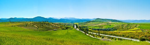 панорама гор Кипра Стоковые Фото