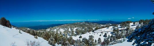 панорама гор Кипра Стоковое фото RF