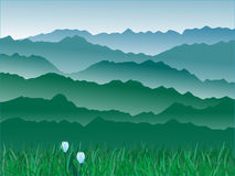 панорама гор Стоковые Изображения