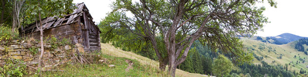Панорама гор Стоковое фото RF