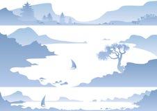 Панорама гор Стоковое Изображение