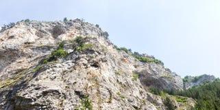 Панорама гор Rhodope, обильно перерастанная с декабрем стоковое фото rf