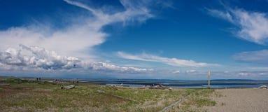 панорама границы залива Стоковые Изображения