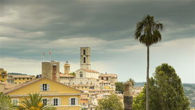 Панорама Грасс, Cote d'Azur Франции акции видеоматериалы