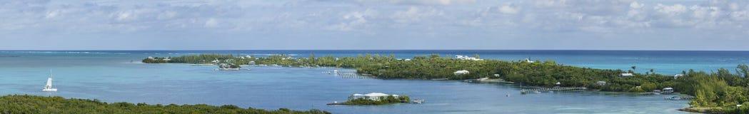панорама 180 градусов Багамских островов Стоковая Фотография RF