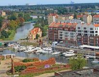 Панорама Гданьска Стоковые Изображения RF