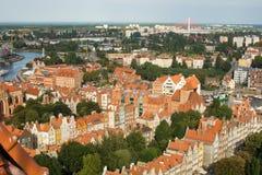 Панорама Гданьска Стоковое Изображение RF