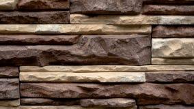 Панорама декоративного камня Двиньте вверх гранит к дому каменная стена видеоматериал