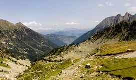 Панорама долины горы стоковое фото rf