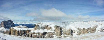 панорама доломитов Стоковые Фото