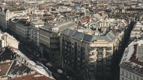 Панорама домов и улиц Будапешта, фасадов h Стоковое фото RF