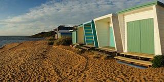 панорама домов пляжа стоковая фотография rf