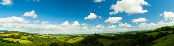 Панорама Дорсет Англии Стоковые Фотографии RF