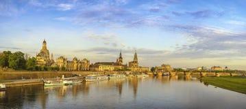 Панорама Дрездена Германии стоковые фотографии rf