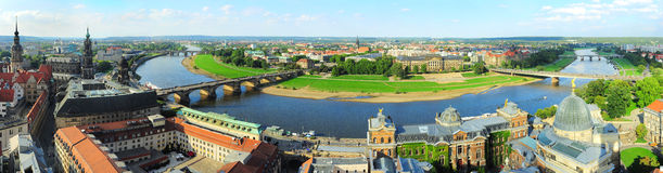 Панорама Дрезден стоковые изображения rf