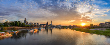 Панорама Дрездена стоковое фото rf