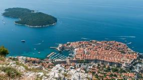 Панорама Дубровника от верхней части Стоковые Фотографии RF