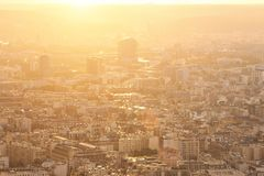 Панорама европейского города, крыши Стоковые Изображения