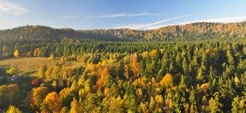 панорама европейца сельской местности Стоковые Изображения