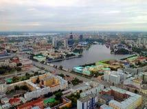 Панорама Екатеринбурга Стоковое фото RF