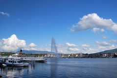 Панорама Женевы Стоковые Фотографии RF