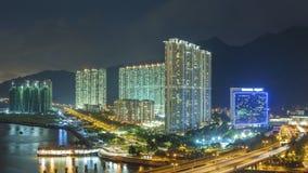 Панорама жилого района в городе Гонконга Стоковые Фотографии RF