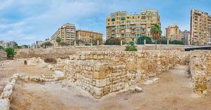 Панорама загубленных римских вилл, Александрия, Египет Стоковые Фото
