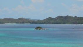 Панорама залива Сейшельских островов Cote d'Or видеоматериал