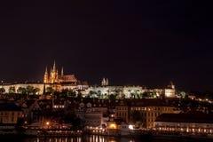 Панорама замка Праги Стоковое Фото
