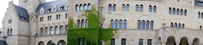 Панорама замка Стоковая Фотография RF