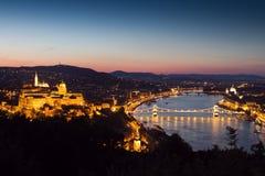 панорама замока budapest Стоковое Фото