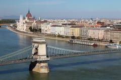панорама замока budapest Стоковая Фотография
