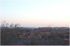 Панорама запретного города стоковые фотографии rf