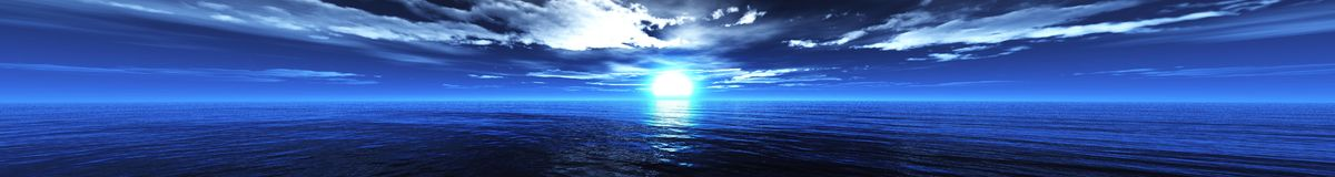 Панорама захода солнца на море, восход солнца океана Стоковая Фотография RF