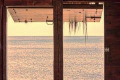 Панорама захода солнца океана Стоковая Фотография RF