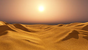 Панорама захода солнца пустыни иллюстрация штока