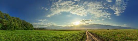 Панорама захода солнца Стоковое Фото