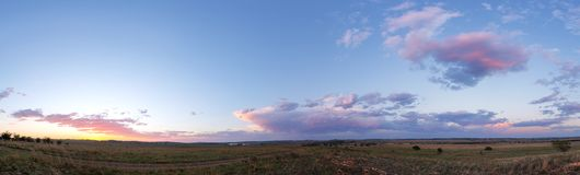 Панорама захода солнца Стоковая Фотография